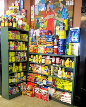 Photo of groceries available in the art gallery