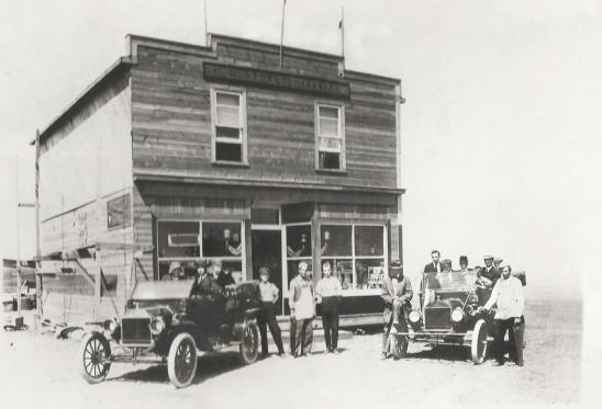 The hardware store in Empress Alberta 1913.