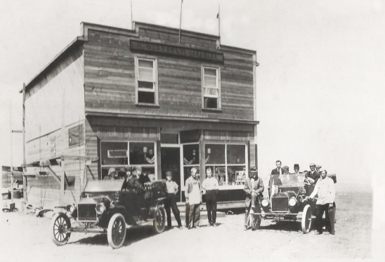 The hardware store in Empress Alberta 1913.
