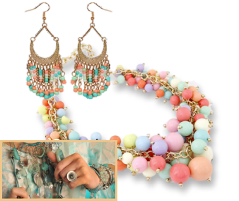 Chunky pastel necklaces