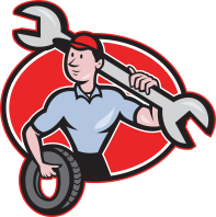 graphic of a mechanic
