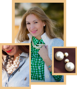 A chunky pearl necklace can be worn casually with anything in your wardrobe.