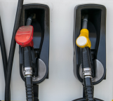 A photo of Gas and Diesel pumps.